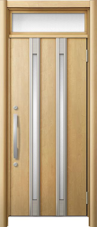 玄関ドア リシェント3 断熱仕様 ランマ付 K2 M24型 片開きドア W:764~977mm × H:2,301~2,600mm LIXIL リクシル TOSTEM トステム