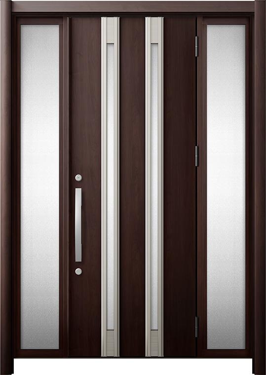 玄関ドア リシェント3 断熱仕様 K4 M24型 両袖 W:1,080~1,695mm × H:1,739~2,039mm リクシル トステム