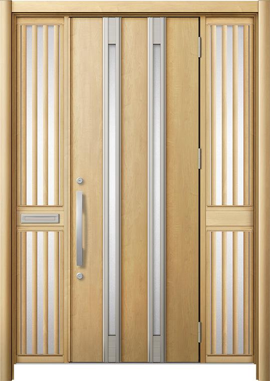 世界的に リシェント 両袖飾り 玄関ドア3 断熱仕様/ 非防火 K2 M24型 アルミ色 LIXIL × 両袖飾り 中桟付ポスト付 特注サイズ W:1,362~1,695mm × H:1,739~2,439mm カバー工法 LIXIL, 和心伝心:779a7c3e --- kalpanafoundation.in