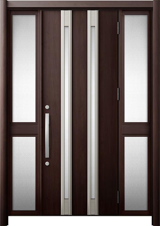 玄関ドア リシェント3 断熱仕様 K4 M24型 両袖中桟付ポスト無 W:1,080~1,695mm × H:2,040~2,439mm リクシル トステム