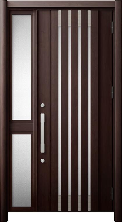 玄関ドア リシェント3 断熱仕様 K2 M27型 片袖中桟付ポスト無ドア W:1,013~1,336mm × H:1,739~2,039mm リクシル トステム