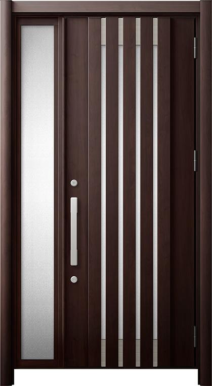 玄関ドア リシェント3 断熱仕様 K4 M27型 片袖ドア W:872~1,336mm × H:1,739~2,039mm LIXIL リクシル TOSTEM トステム