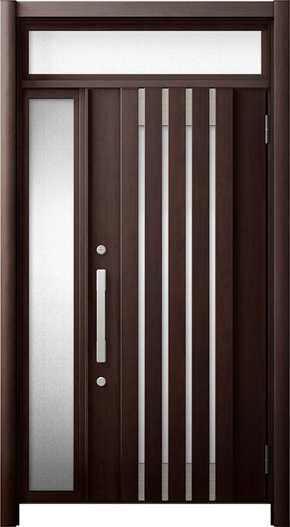 玄関ドア リシェント3 断熱仕様 ランマ付 K2 M27型 片袖ドア W:872~1,336mm × H:2,301~2,600mm LIXIL リクシル TOSTEM トステム