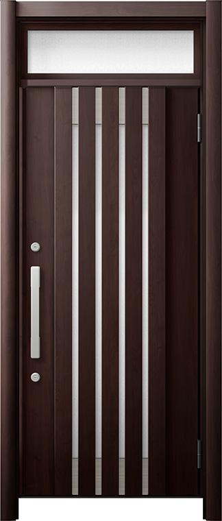 玄関ドア リシェント3 断熱仕様 ランマ付 K2 M27型 片開きドア W:714~977mm × H:1,974~2,300mm LIXIL リクシル TOSTEM トステム