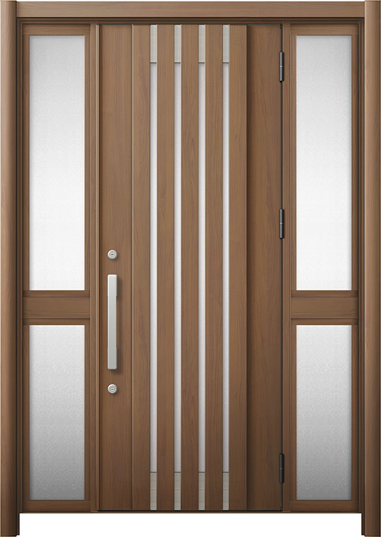 玄関ドア リシェント3 断熱仕様 K4 M27型 両袖中桟付ポスト無 W:1,030~1,695mm × H:1,739~2,039mm リクシル トステム
