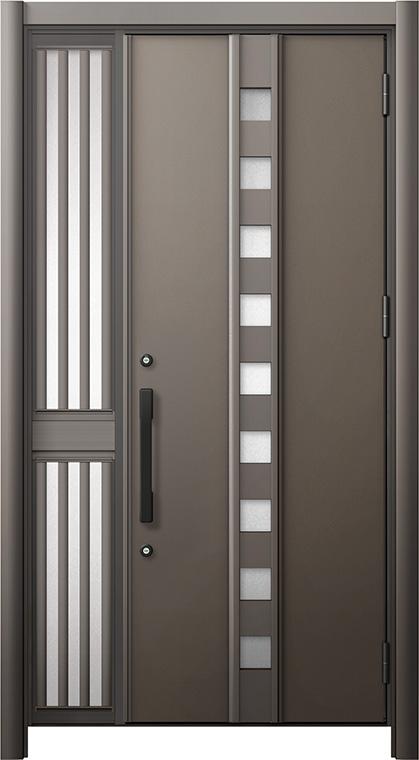 玄関ドア リシェント3 断熱仕様 K2 M28型 片袖飾り中桟付ポスト無ドア W:1,013~1,336mm × H:2,040~2,439mm リクシル トステム