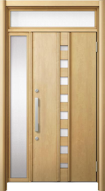 玄関ドア リシェント3 断熱仕様 ランマ付 K2 M28型 片袖ドア W:872~1,336mm × H:2,301~2,600mm LIXIL リクシル TOSTEM トステム