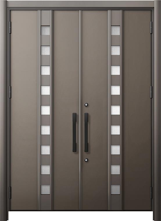 玄関ドア リシェント3 断熱仕様 K2 M28型 両開きドア W:1,370~1,873mm × H:2,040~2,439mm LIXIL リクシル TOSTEM トステム