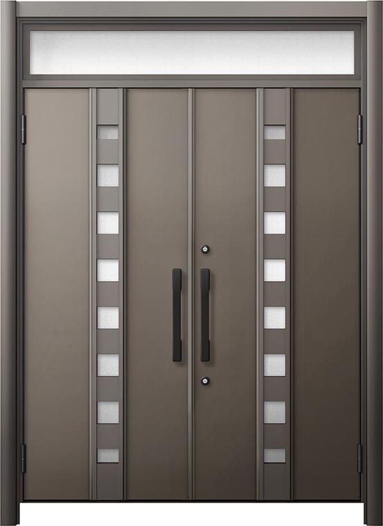 玄関ドア リシェント3 断熱仕様 ランマ付 K2 M28型 両開きドア W:1,370~1,873mm × H:1,974~2,300mm LIXIL リクシル TOSTEM トステム