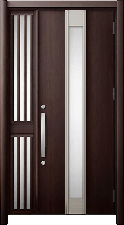 玄関ドア リシェント3 断熱仕様 K2 M77型 片袖飾り中桟付ポスト無ドア W:1,013~1,336mm × H:1,739~2,039mm リクシル トステム