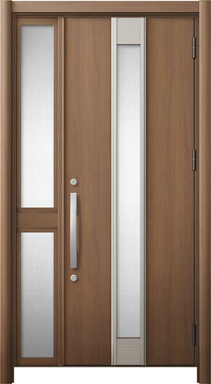 玄関ドア リシェント3 断熱仕様 K2 M77型 片袖中桟付ポスト無ドア W:1,013~1,336mm × H:2,040~2,439mm リクシル トステム