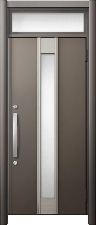玄関ドア リシェント3 断熱仕様 ランマ付 K2 M77型 片開きドア W:714~977mm × H:2,301~2,600mm LIXIL リクシル TOSTEM トステム