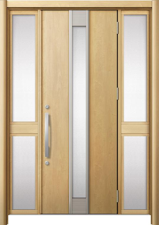 玄関ドア リシェント3 断熱仕様 K4 M77型 両袖中桟付ポスト無 W:1,030~1,695mm × H:2,040~2,439mm リクシル トステム
