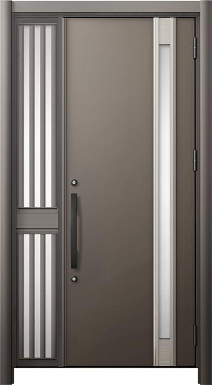 玄関ドア リシェント3 断熱仕様 K2 M78型 片袖飾り中桟付ポスト無ドア W:1,013~1,336mm × H:2,040~2,439mm リクシル トステム