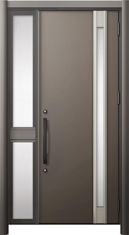 玄関ドア リシェント3 断熱仕様 K2 M78型 片袖中桟付ポスト無ドア W:1,013~1,336mm × H:2,040~2,439mm リクシル トステム