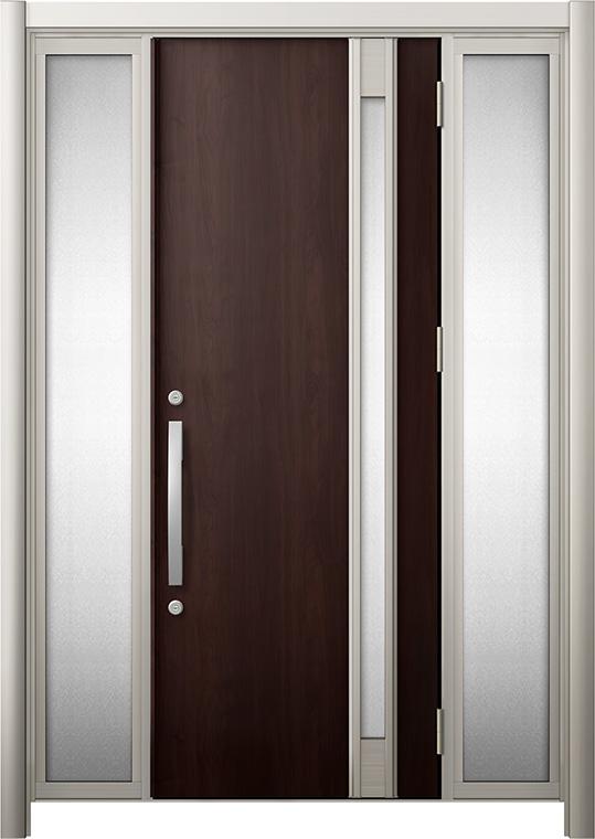 玄関ドア リシェント3 断熱仕様 K4 M78型 両袖 W:1,030~1,695mm × H:2,040~2,439mm リクシル トステム