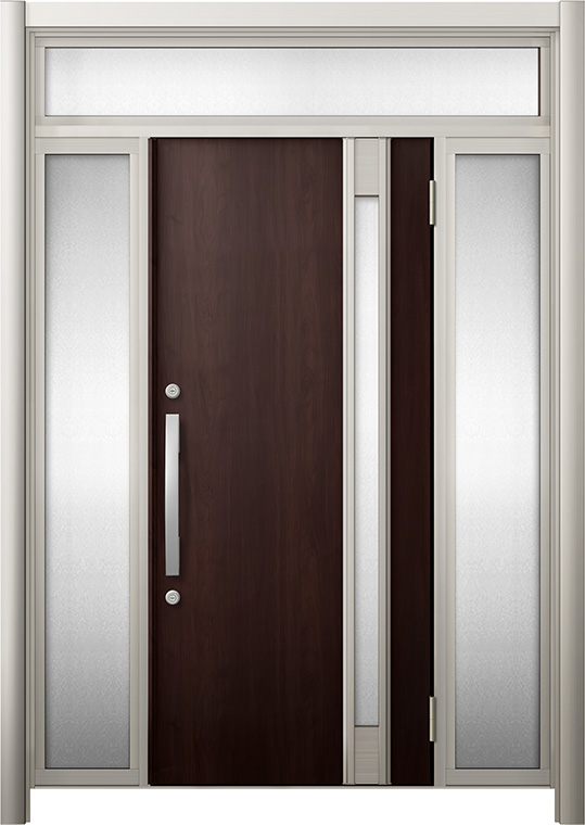 玄関ドア リシェント3 断熱仕様 K2 M78型 両袖ランマ付 W:1,030~1,695mm × H:2,301~2,600mm リクシル トステム