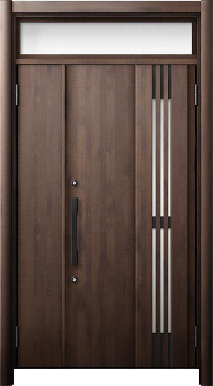玄関ドア リシェント3 断熱仕様 ランマ付 K4 M83型(採風タイプ) 親子ドア W:1,201~1,480mm × H:2,301~2,600mm LIXIL リクシル TOSTEM トステム