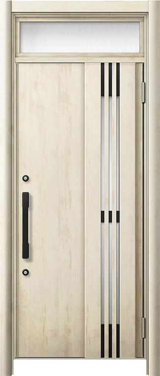 玄関ドア リシェント3 断熱仕様 ランマ付 K4 M83型(採風タイプ) 片開きドア W:764~864mm × H:1,974~2,300mm LIXIL リクシル TOSTEM トステム