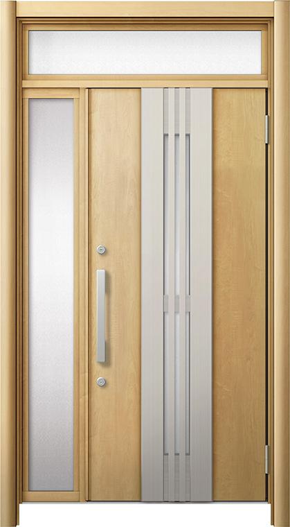 玄関ドア リシェント3 断熱仕様 ランマ付 K4 M84型(採風タイプ) 片袖ドア W:1,101~1,336mm × H:2,301~2,600mm LIXIL リクシル TOSTEM トステム