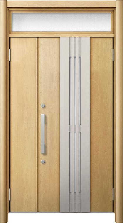 玄関ドア リシェント3 断熱仕様 ランマ付 K4 M84型(採風タイプ) 親子ドア W:1,201~1,480mm × H:2,301~2,600mm LIXIL リクシル TOSTEM トステム