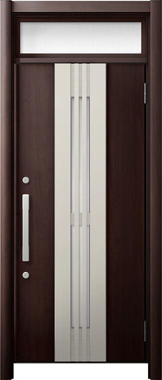 玄関ドア リシェント3 断熱仕様 ランマ付 K4 M84型(採風タイプ) 片開きドア W:865~977mm × H:1,974~2,300mm LIXIL リクシル TOSTEM トステム