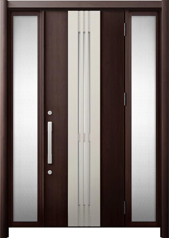 玄関ドア リシェント3 断熱仕様 K2 M84型(採風タイプ) 両袖 W:1,130~1,695mm × H:1,840~2,039mm リクシル トステム