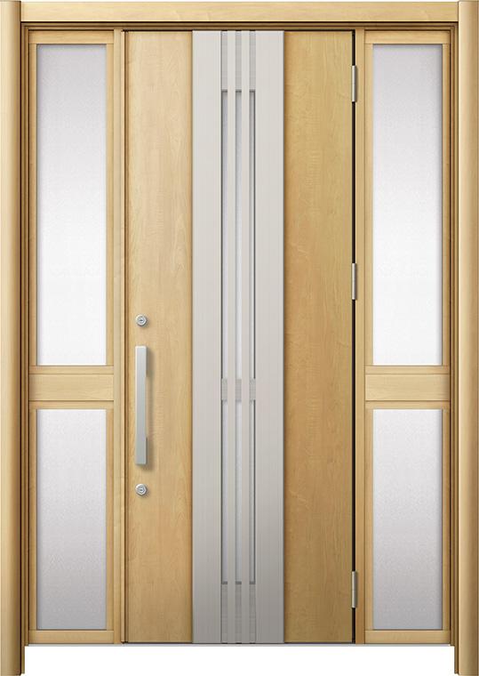 玄関ドア リシェント3 断熱仕様 K2 M84型(採風タイプ) 両袖中桟付ポスト無 W:1,130~1,695mm × H:2,040~2,350mm リクシル トステム
