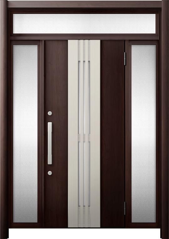 玄関ドア リシェント3 断熱仕様 K4 M84型(採風タイプ) 両袖ランマ付 W:1,130~1,695mm × H:2,301~2,600mm リクシル トステム