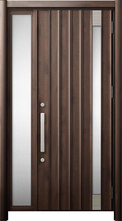 玄関ドア リシェント3 断熱仕様 K2 P77型 片袖ドア W:1,101~1,336mm × H:2,040~2,439mm LIXIL リクシル TOSTEM トステム