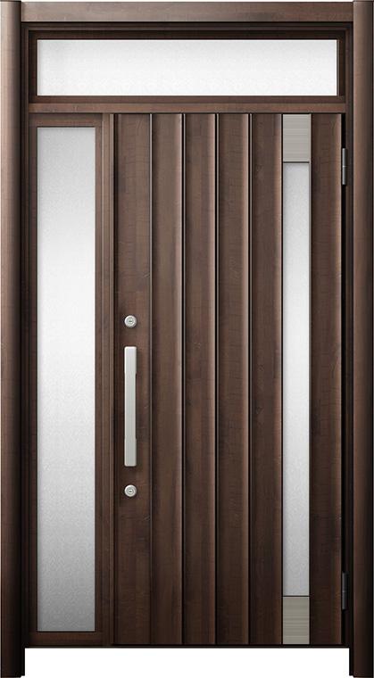 玄関ドア リシェント3 断熱仕様 ランマ付 K4 P77型 片袖ドア W:1,101~1,336mm × H:1,974~2,300mm LIXIL リクシル TOSTEM トステム