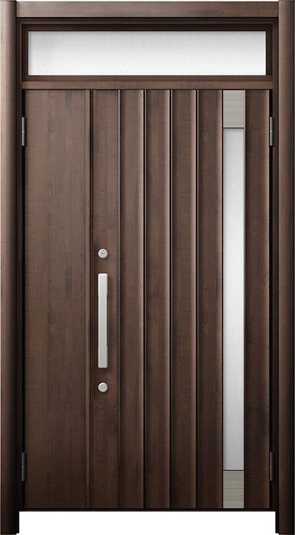 玄関ドア リシェント3 断熱仕様 ランマ付 K4 P77型 親子ドア W:978~1,200mm × H:1,974~2,039mm LIXIL リクシル TOSTEM トステム