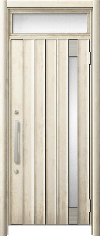 玄関ドア リシェント3 断熱仕様 ランマ付 K2 P77型 片開きドア W:752~864mm × H:1,974~2,300mm LIXIL リクシル TOSTEM トステム