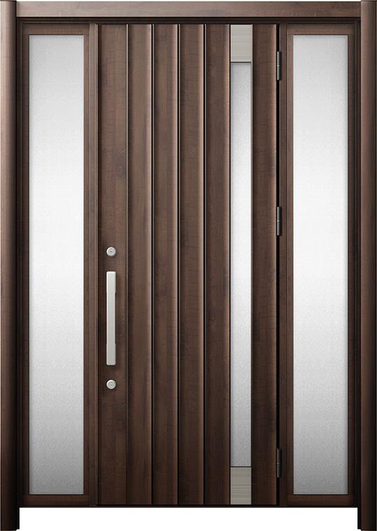 玄関ドア リシェント3 断熱仕様 K4 P77型 両袖 W:1,068~1,695mm × H:2,040~2,439mm リクシル トステム