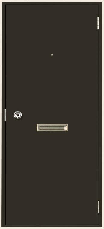 ロンカラーフラッシュドア ドア本体のみ 内付型 ポスト・アイ付き レバーハンドル仕様(位置指定) / 丁番加工無し 特注サイズ Dw:366~803mm × Dh:561~2,048mm LIXIL リクシル TOSTEM トステム