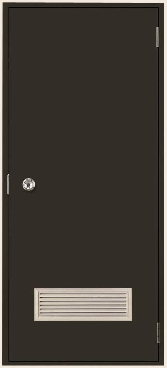 ロンカラーフラッシュドア ガラリ付き ランマなし 半外付型 0818 W:803mm × H:1,820mm 勝手口 LIXIL リクシル TOSTEM トステム