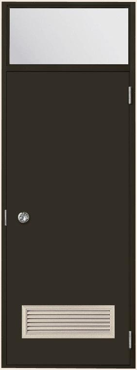 ロンカラーフラッシュドア ガラリ付き ランマ付き 内付型 0822 W:803mm × H:2,252mm 勝手口 LIXIL リクシル TOSTEM トステム