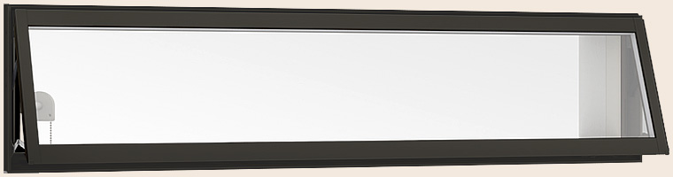 【国際ブランド】 × W:780mm H:350mm チェーン式オペレーター Low-E複層ガラス 高所用横すべり出し窓 LIXIL リクシル:Clair(クレール)店 アルミスペーサー仕様 サーモスL 074028 /-木材・建築資材・設備