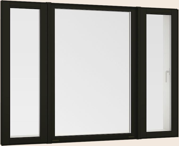 サーモスL 縦すべり出し窓 + Fix窓(外押縁) + 縦すべり出し窓 カムラッチ Low-E複層ガラス / アルミスペーサー 16513 W:1,690mm × H:1,370mm LIXIL TOSTEM