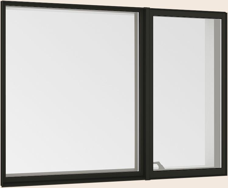 サーモスL 縦すべり出し窓 + Fix窓 外押縁 オペレーターハンドル Low-E複層ガラス アルミスペーサー仕様 TOSTEM × 370mm W:1 LIXIL 激安 235mm ストアー 11913 H:1