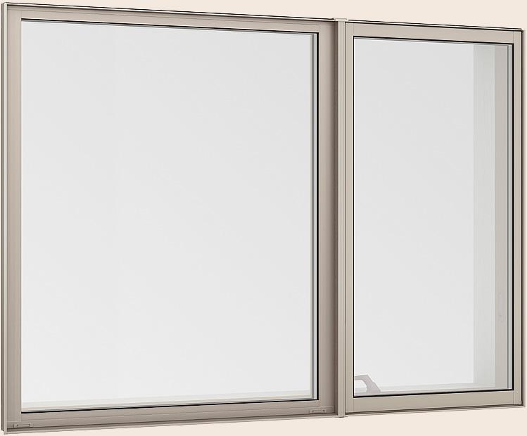 サーモスL 縦すべり出し窓 + Fix窓(内押縁) オペレーターハンドル 一般複層ガラス / アルミスペーサー仕様 16513 W:1,690mm × H:1,370mm LIXIL TOSTEM