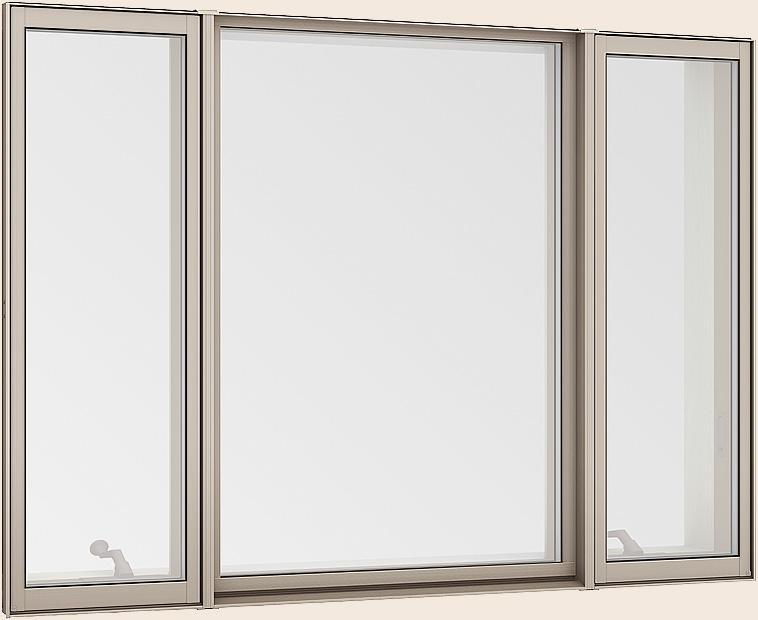 サーモスL 縦すべり出し窓 + Fix窓(外押縁) + 縦すべり出し窓 オペレーター 一般複層ガラス / アルミスペーサー 16013 W:1,640mm × H:1,370mm LIXIL TOSTEM