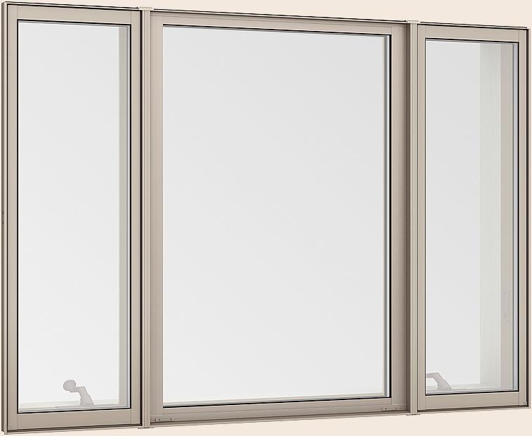 サーモスL 縦すべり出し窓 + Fix窓(内押縁) + 縦すべり出し窓 オペレーター 一般複層ガラス / アルミスペーサー 16013 W:1,640mm × H:1,370mm LIXIL TOSTEM