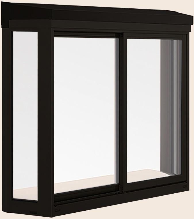 正規品販売! 居室用出窓 LB型 2枚建て サーモスII-Hタイプ 一般複層ガラス / アルミスペーサー仕様 11911 W:1,235mm × H:1,170mm LIXIL リクシル TOSTEM トステム, グラスゴー 158b6029