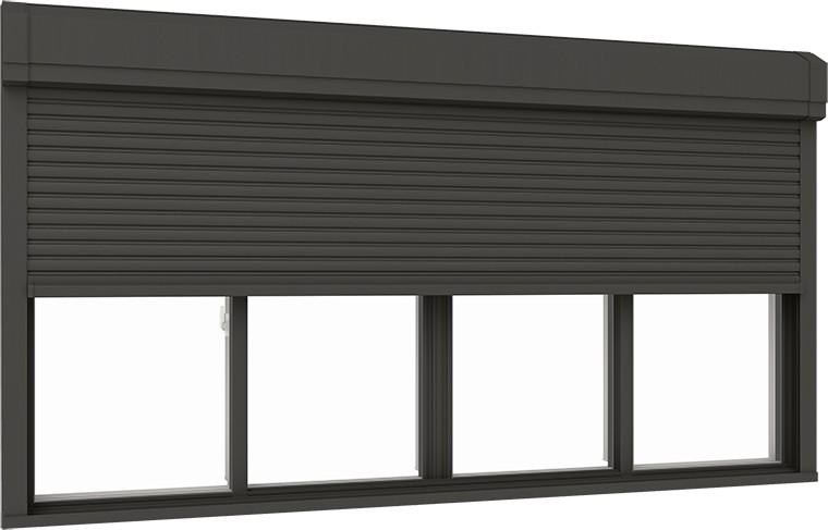 最上の品質な サーモスX シャッター付引違い窓 4枚建て 複層ガラス仕様 標準タイプ 手動 34720 W:3,510mm × H:2,030mm LIXIL リクシル TOSTEM トステム, フジバンビ 8b01a308