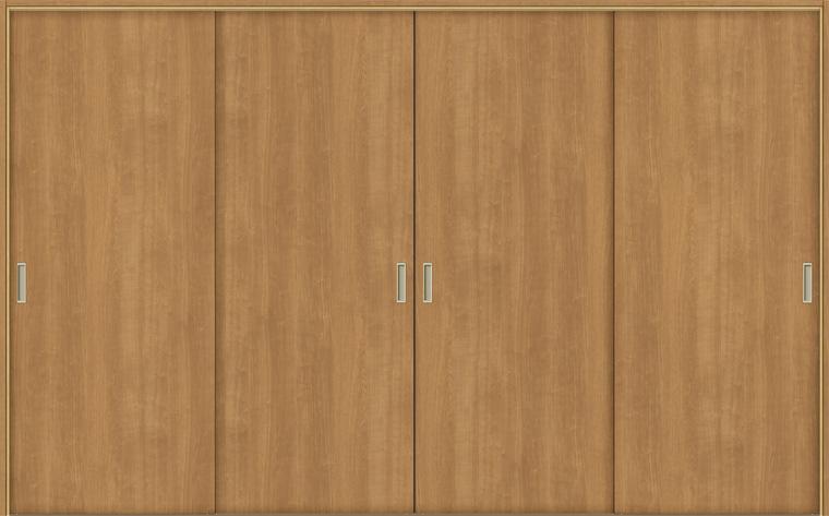 特注 戸襖引戸 引違い戸4枚建て BHF-LAA 鍵無し 在来工法 ケーシング付枠 標準枠 W:1,789-3,949mm × H:1,540-2,437mm 新和風 DIY リフォーム