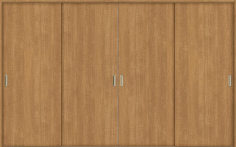 特注 戸襖引戸 引違い戸4枚建て BHF-LAA 鍵無し 在来工法 ケーシング付枠 DX枠 W:1,789-3,949mm × H:1,540-2,437mm 新和風 DIY リフォーム