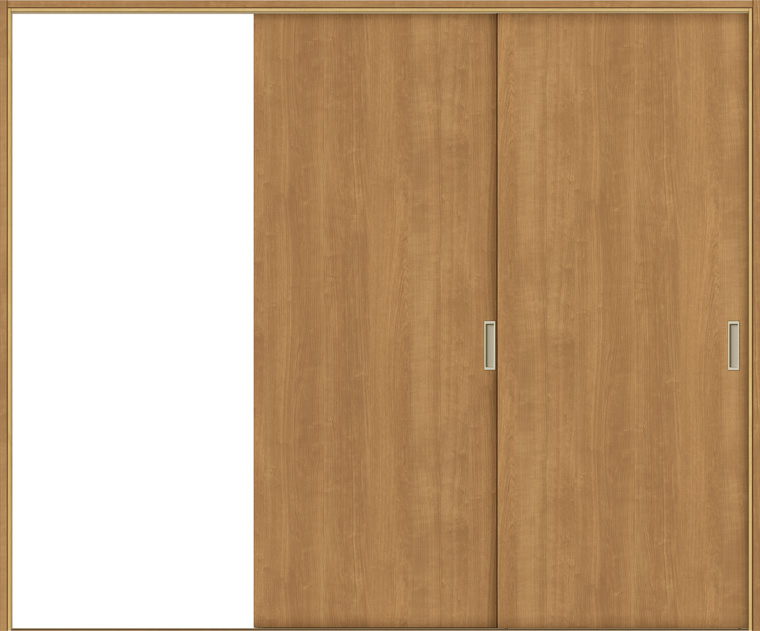 特注 戸襖引戸 片引戸2枚建て BKD-LAA 鍵無し 洋室側引込み 在来工法 ケーシング付枠 標準枠 W:1,334-2,954mm × H:1,540-2,437mm 新和風 DIY リフォーム
