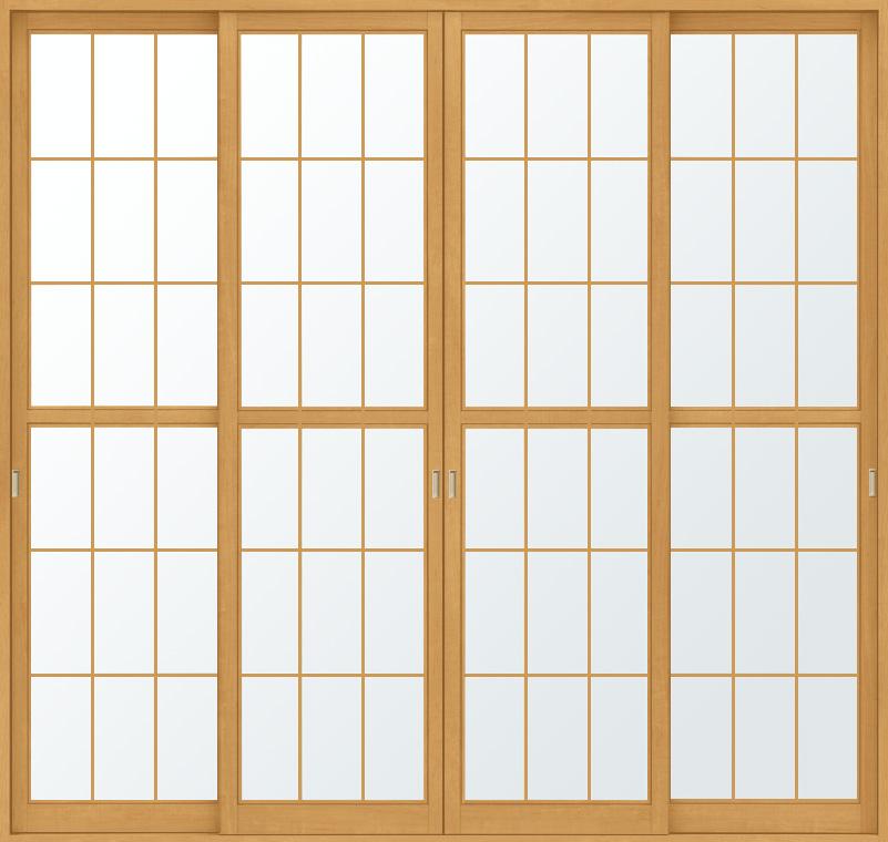 和障子 吾妻障子 引違い戸 4枚建て SAHH-CA3 在来工法 2520 W:2,556mm × H:2,038mm 新和風 LIXIL リクシル TOSTEM トステム DIY リフォーム