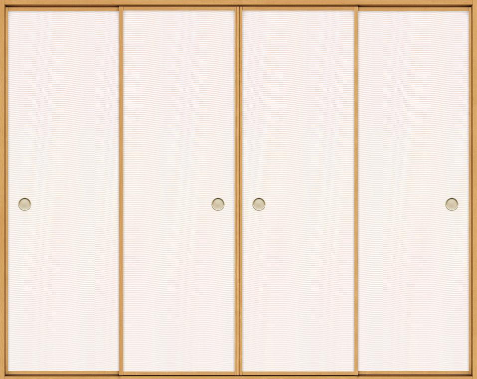 特注 和襖 引戸 引き違い4枚建て SCHF-AF3 在来工法 ノンケーシング付枠 W:1,192-3,992mm × H:385-2,045mm 新和風 DIY リフォーム